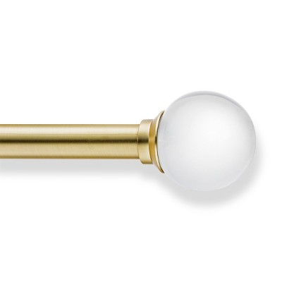 """66""""-120"""" Clear Ball Rod Antique Brass - Project 62™"""