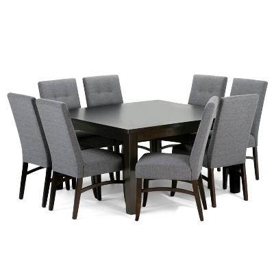 Ezra 9 Piece Dining Set   Slate Gray   Simpli Home