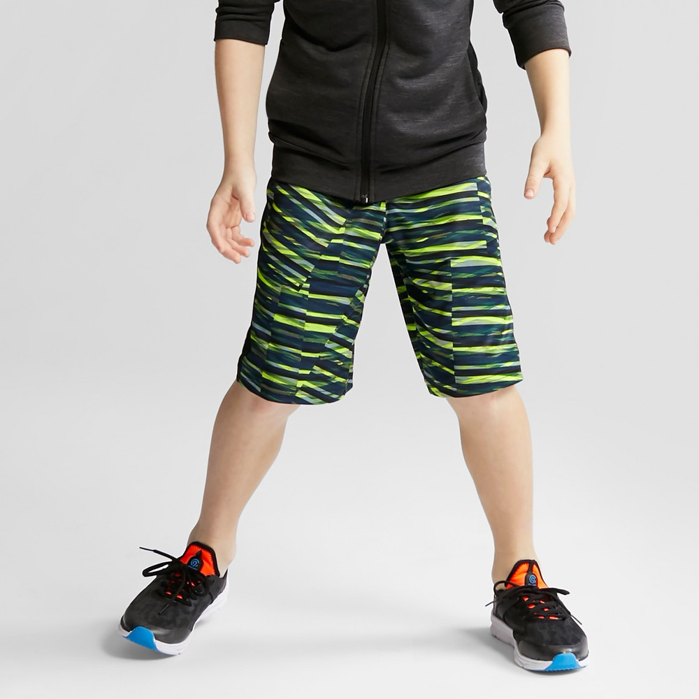 Boys' Printed Training Shorts - C9 Champion Yellow S, Black