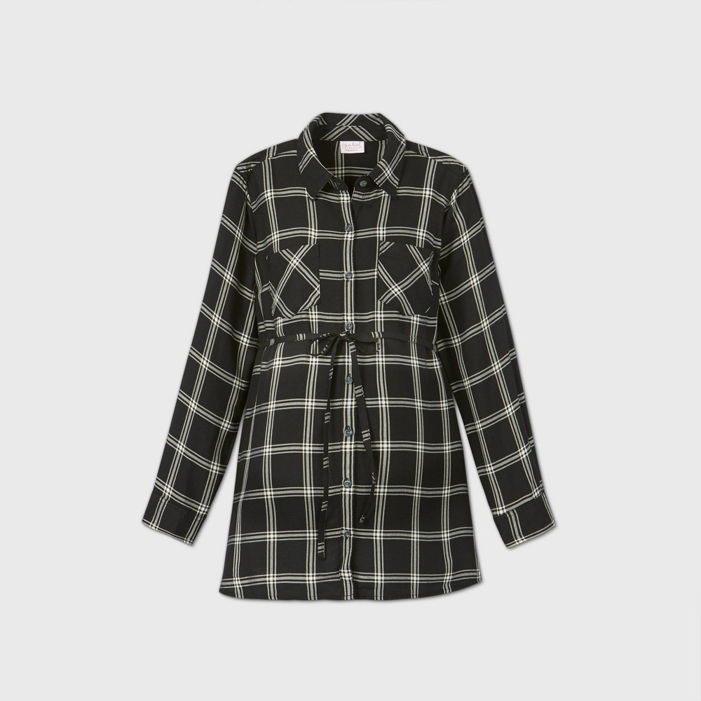 Coupons Maternity Plaid Long Sleeve Popover Tunic - Isabel Maternity by Ingrid & Isabel™