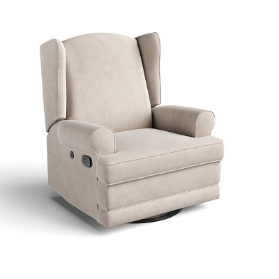 Storkcraft Serenity Wingback Upholstered Recline Glider