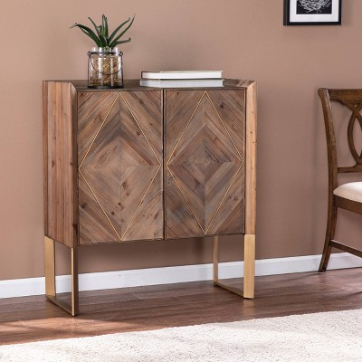 Glacerad Reclaimed Wood Cabinet Brown - Aiden Lane