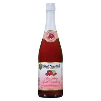 Martinellis Gold Medal Sparkling Apple Cranberry Juice - 25.4 fl oz Glass Bottle