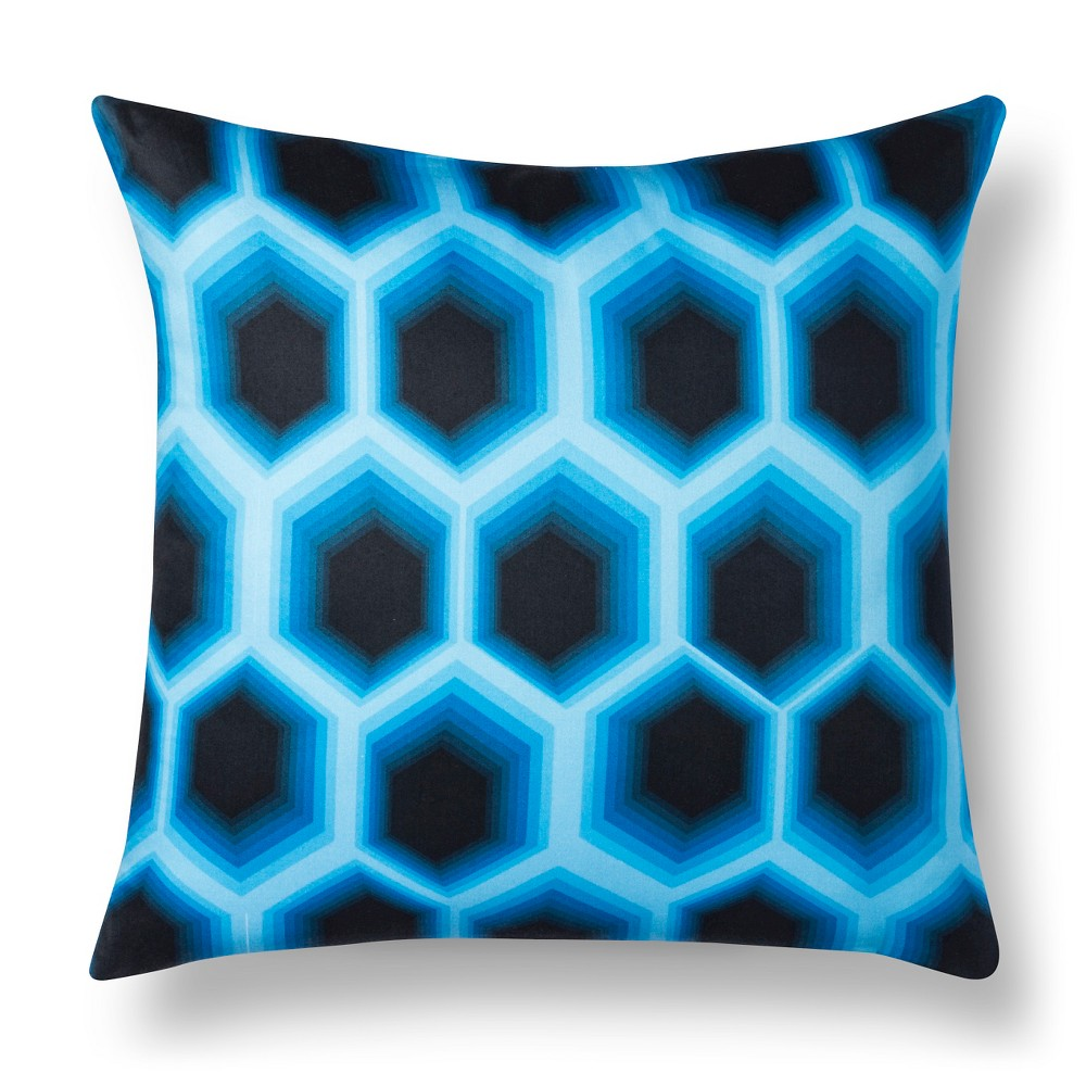 "Image of ""Artwork Series: 'Design 4' By James Marshall Throw Pillow (18""""x18"""") - Air"""