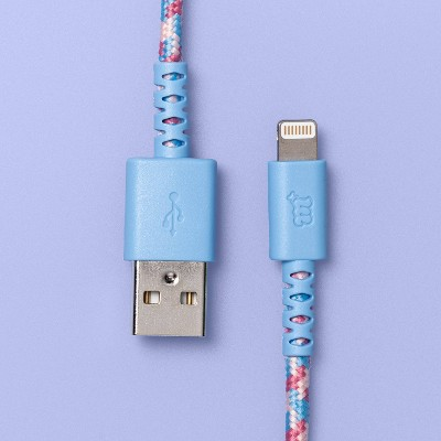 Lighting to USB-A 6' Round Braided Cable - More Than Magic™ - Blue