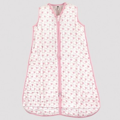 Hudson Baby Safe Sleep Wearable Muslin Sleeping Bag - Pink Sheep - 0-6M