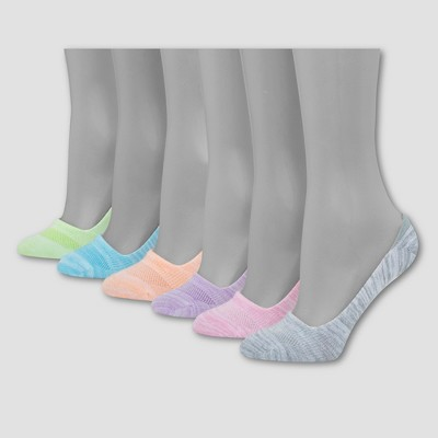 Hanes Women's Invisible Comfort 6pk Mid Cut Liner Socks