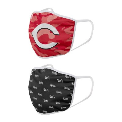 MLB Cincinnati Reds Youth Clutch Printed Face Covering - 2pk