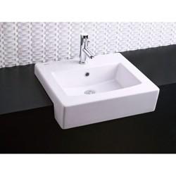"American Standard 0342.001 Boxe 19-3/4"" Drop In Fireclay Bathroom Sink"