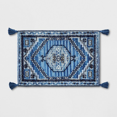 2'X3' Diamond Woven Accent Rugs Blue - Threshold™ - image 1 of 3