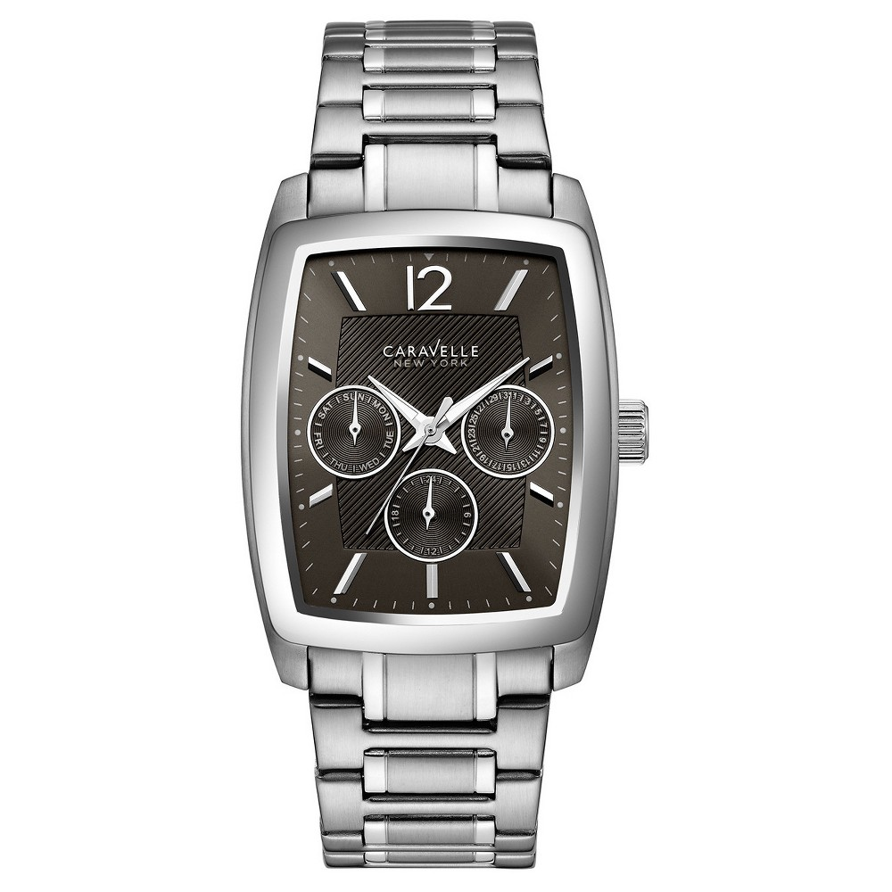 Image of Men's Caravelle New York Analog Watch - Silver, Size: Small