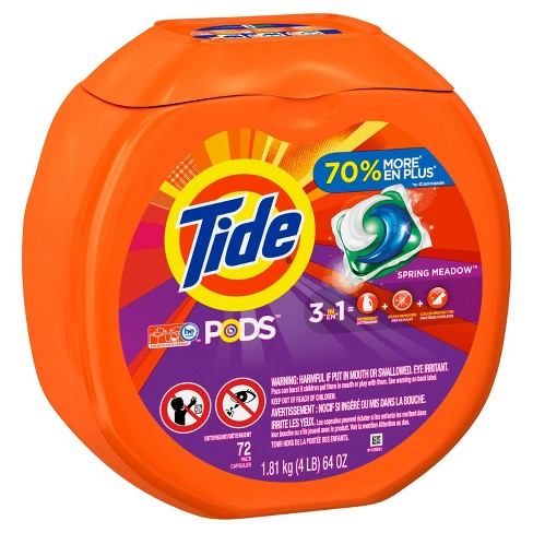 Tide Pods Spring Meadow Scent Laundry Detergent 72ct