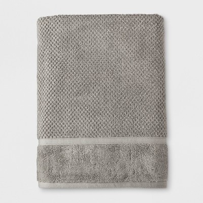 Bath Sheet Performance Texture Bath Towels And Washcloths Classic Gray - Threshold™