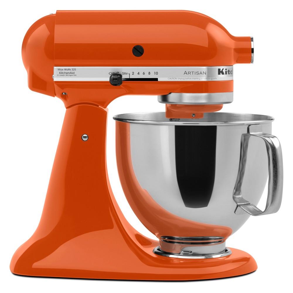 Image of KitchenAid Refurbished 5qt Artisan Stand Mixer Persimmon (Red) - RRK150PN