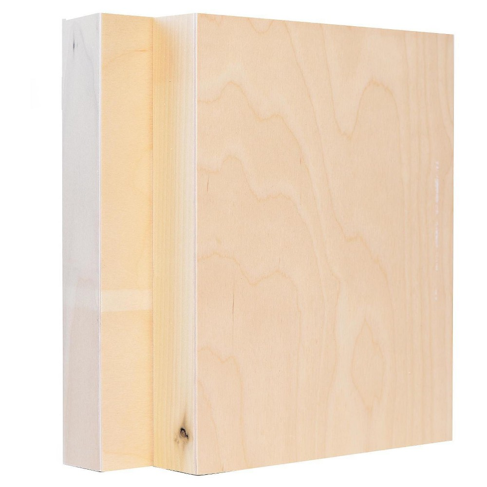 American Easel Primed Wood Painting Panel, Clear Gesso, 8
