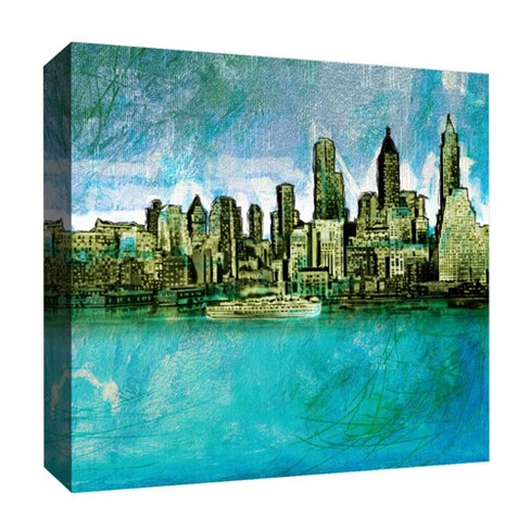 "Crayon New York Decorative Canvas Wall Art 16""x16"" - PTM Images - image 1 of 1"