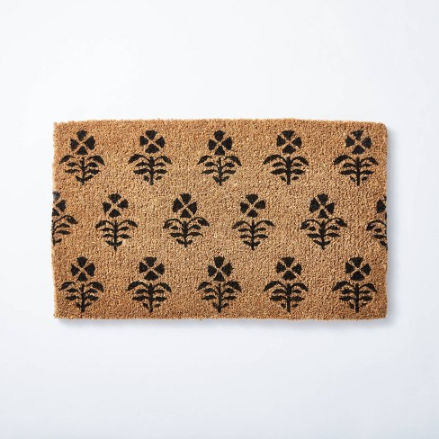 "1'6""x2'6"" Block Print Coir Doormat Natural - Threshold™ designed with Studio McGee - image 1 of 4"