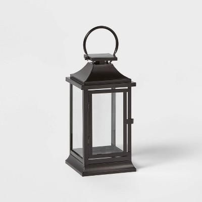 12in Decorative Metal Lantern Black - Wondershop™