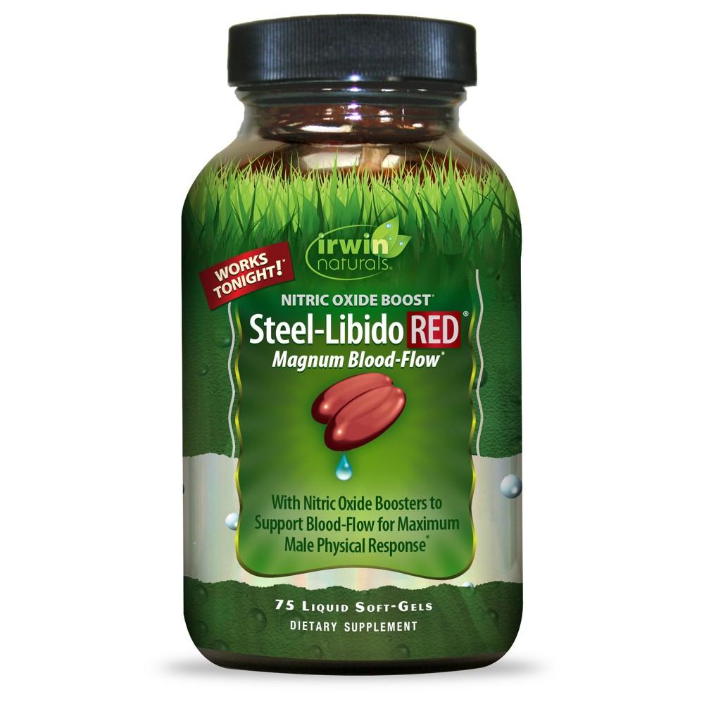 irwin naturals Steel-Libido Red Dietary Supplement Liquid Soft-Gels - 75ct
