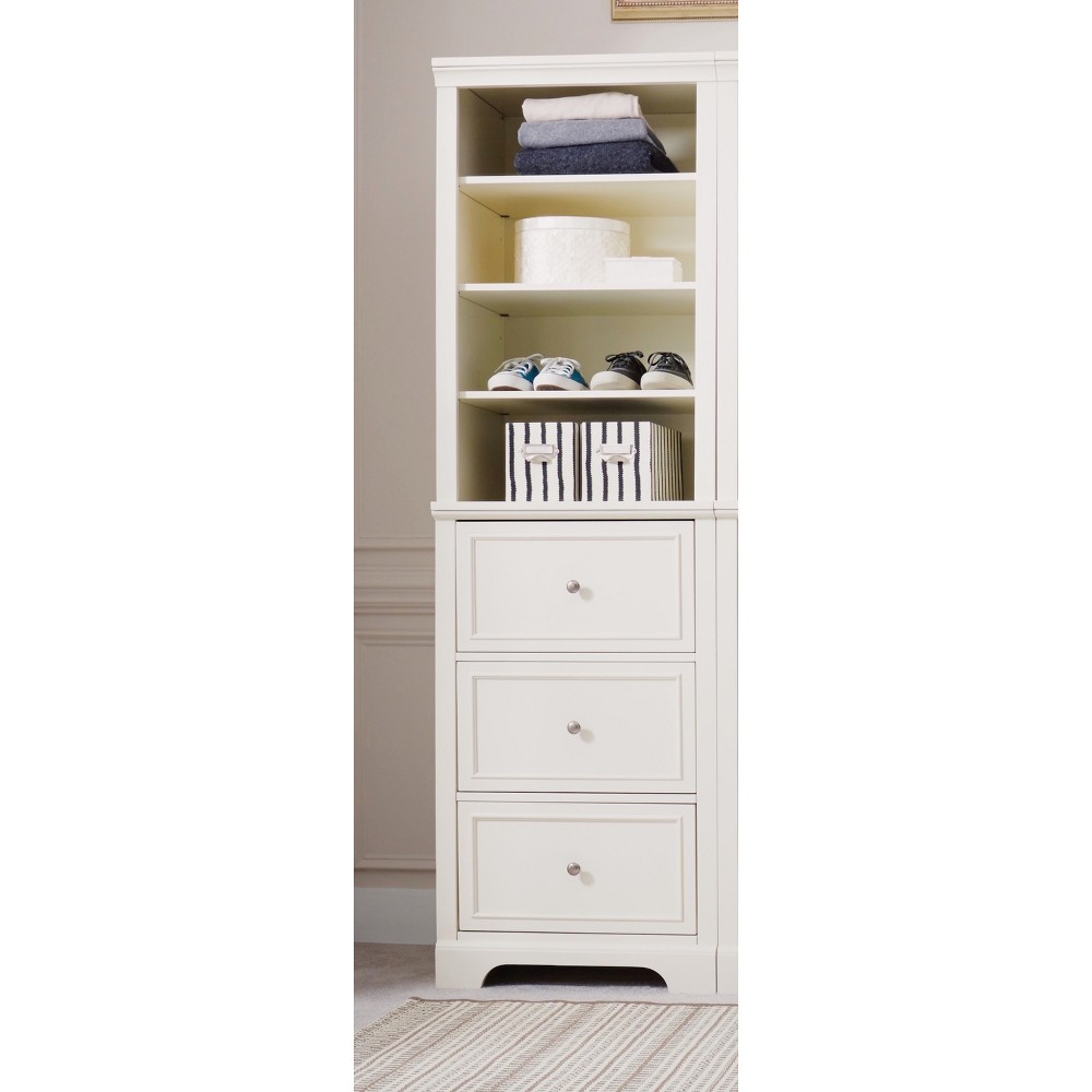Naples Drawer Closet Wall Unit - Cream (Ivory)/ Off White - Home Styles