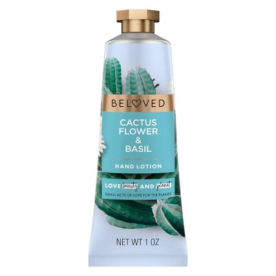 Beloved Cactus Flower & Basil Hand Cream Lotion - 1oz