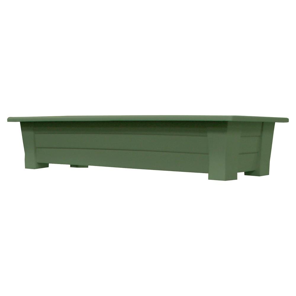 Image of 36 Rectangular Deck Rail Rectangular Planter - Sage (Green) - Adams Manufacturing