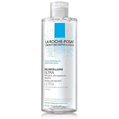 La Roche Posay Ultra Micellar Cleansing Water and Makeup Remover for Sensitive Skin - 13.5oz