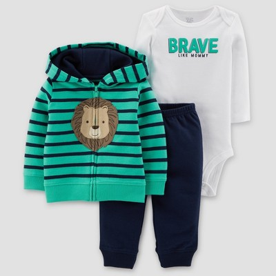 Baby Boys' Lion 3pc Set - Just One You® made by carter's Teal/Navy 3M