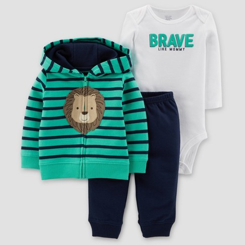 872451738 Baby Boys' Lion 3pc Set - Just One You® Made By Carter's Teal/Navy ...