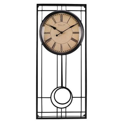 Pendulum Wall Clock Black - Threshold™