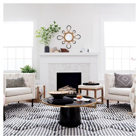 Round Coffee Table Black Gold Nate Berkus Target - Looking for a round coffee table