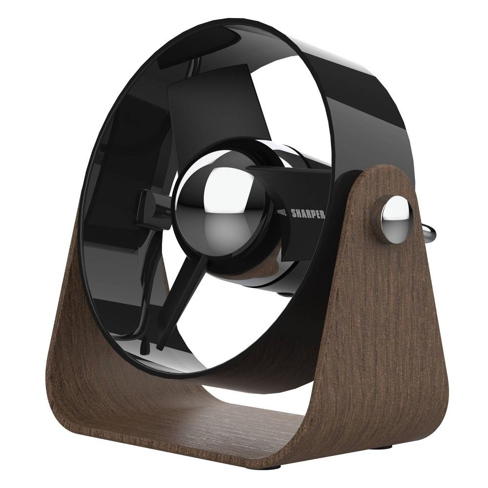 Sharper Image Sbs1 Personal Usb Fan With Soft Blades Black
