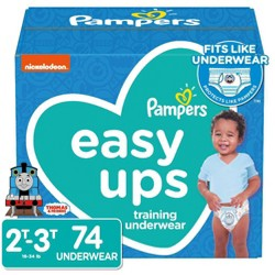 Pampers Easy Ups Boys' Training Pants Super Pack - 74ct