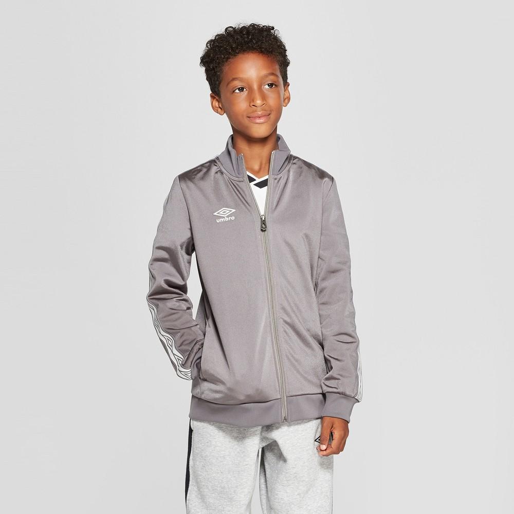 Umbro Boys' Double Diamond Track Jacket - Gray XL