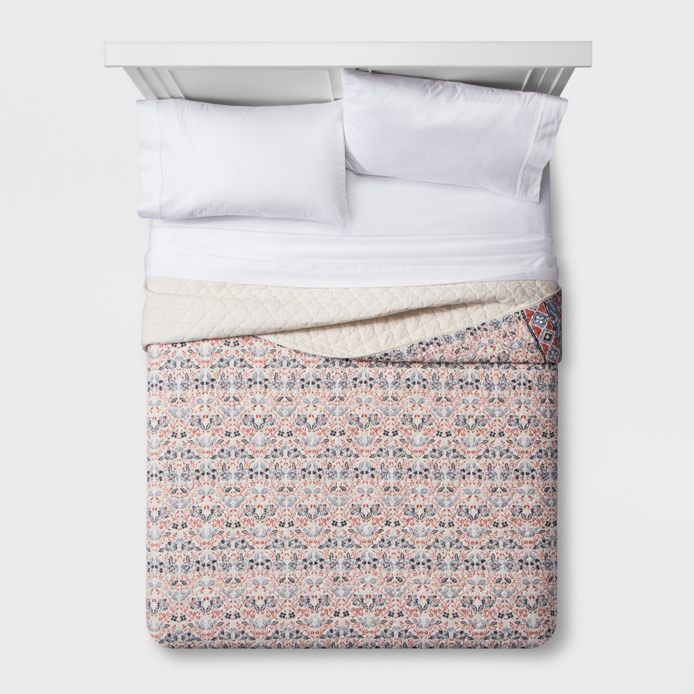 Floral Stripe Quilt (Full/Queen) - Threshold, Pink
