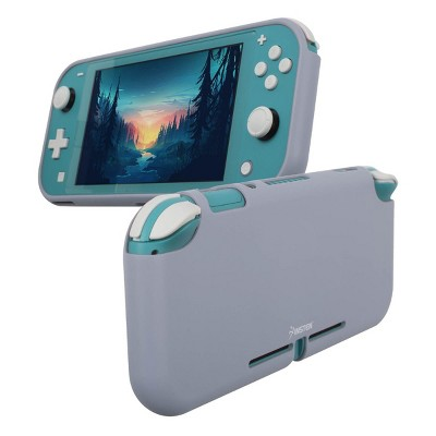Insten Silicone Case for Nintendo Switch Lite - Shockproof Protective Cover Accessories with Smooth Grip, Lavender Gray