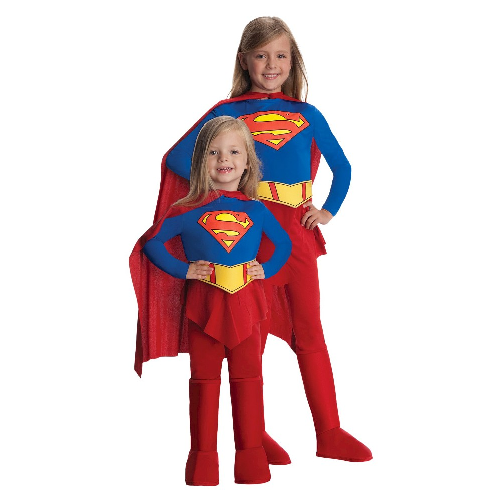 Image of Halloween Supergirl Toddler Girls' Costume 2T-4T, Girl's, Size: Small