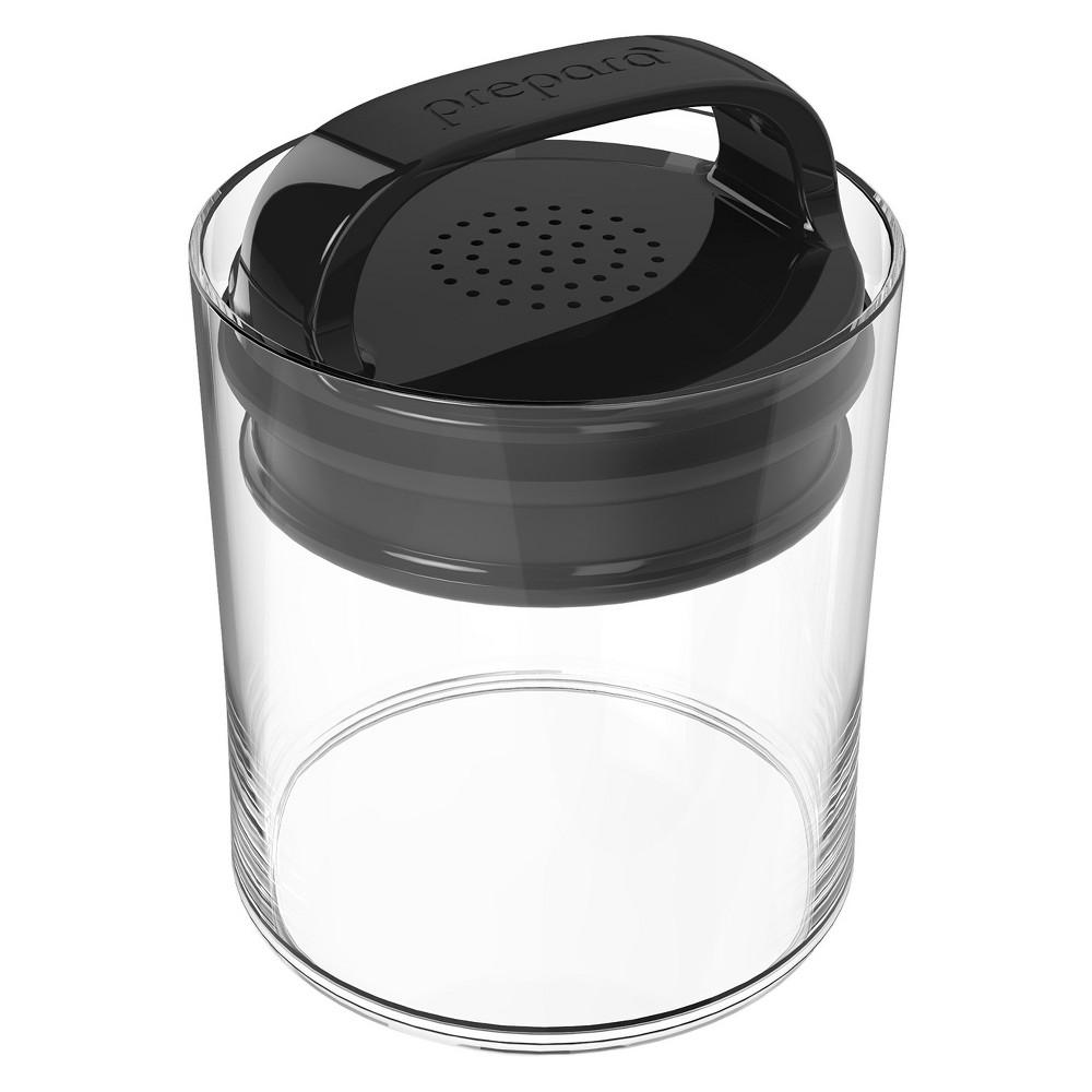Image of Food Storage Canister Short 0.5qt Black - Prepara