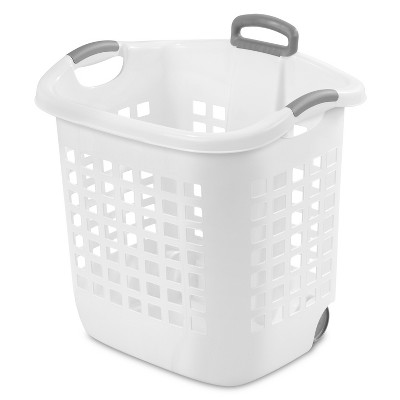 Sterilite® Wheeled Laundry Basket - White
