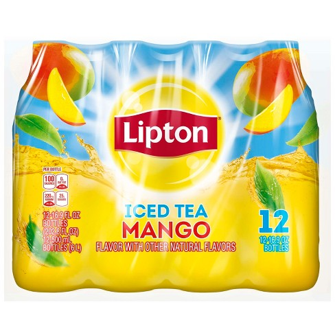 Lipton Mango Iced Tea - 12pk/16.9 fl oz Bottles - image 1 of 4