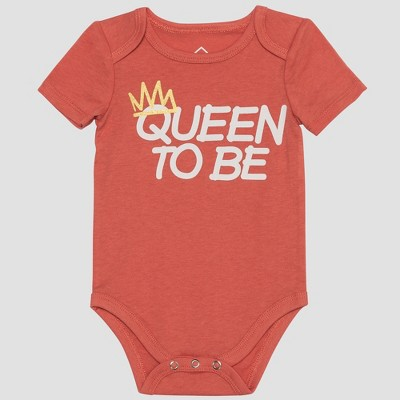 Wellworn Baby Queen to be Bodysuit - Faded Rose 3-6M
