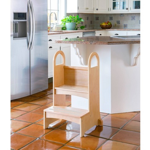 Kids' High Rise Step-Up Stool Natural - Guidecraft - image 1 of 3