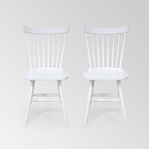 Set Of 2 Balcomb Farmhouse Dining Chair White Christopher Knight Home Target