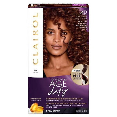 Clairol Nice'N Easy Age Defy Expert Hair Color - 4R Dark Auburn - 1 kit
