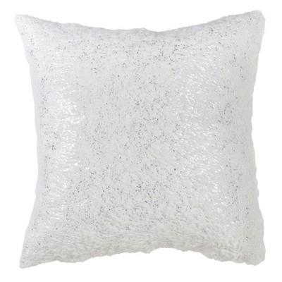 Textured Square Throw Pillow White - Saro Lifestyle