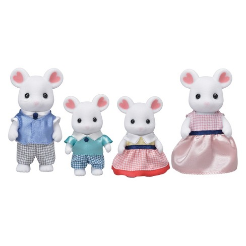 Calico Critters Marshmallow Mouse Family - image 1 of 3