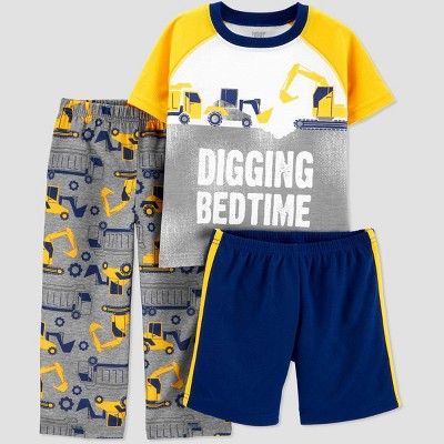 Baby Boys' 3pc 'Truck' Pajama Set - Just One You® made by carter's Yellow 12M