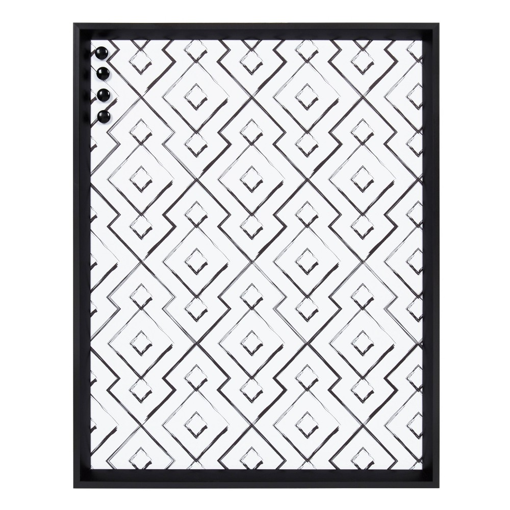 "Image of ""20"""" x 26"""" Calter Magnetic Canvas Avery Geo Black - Kate and Laurel"""