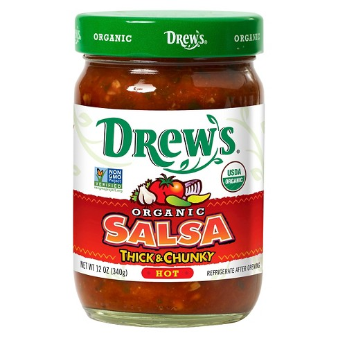 Drew's® Organic Hot Thick and Chunky Salsa 12 oz - image 1 of 1