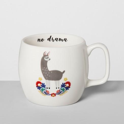 porcelain no drama llama mug 16oz white opalhouse target